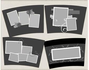Tumbler Plates Tumbler Templates - Digital Scrapbooking Tumbler, Mug Insert Templates INSTANT DOWNLOAD
