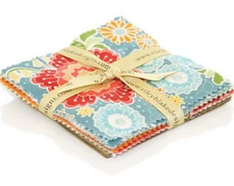 5 inch  Flutter Cotton charm pack  Fabric by Riley Blake