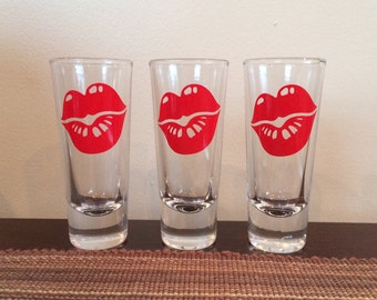 Shot Glass with Big Lips