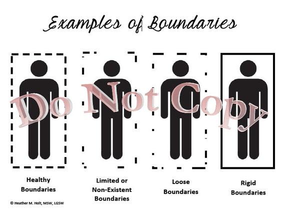 Unhealthy Boundaries Skills Worksheet – Personal Boundaries Worksheet