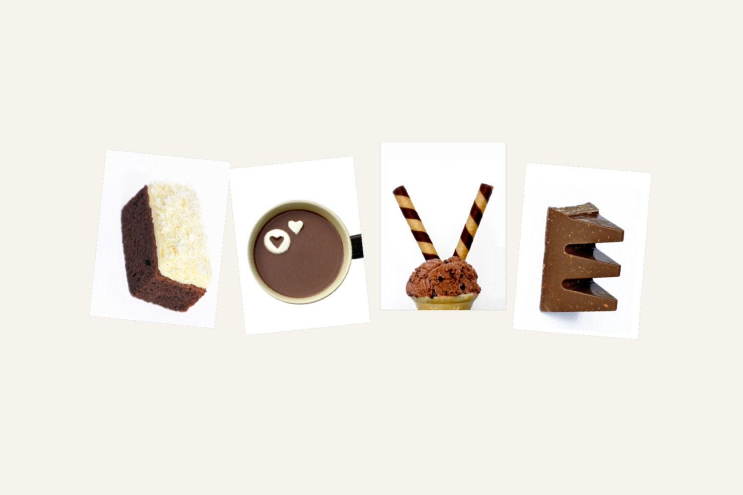 CHOCOLATE LOVE MiSS PiCCY Creative Letter Art Photos Only