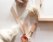 Maryanne Moodie - Tool packs for using a weaving loom to make a woven wall hanging