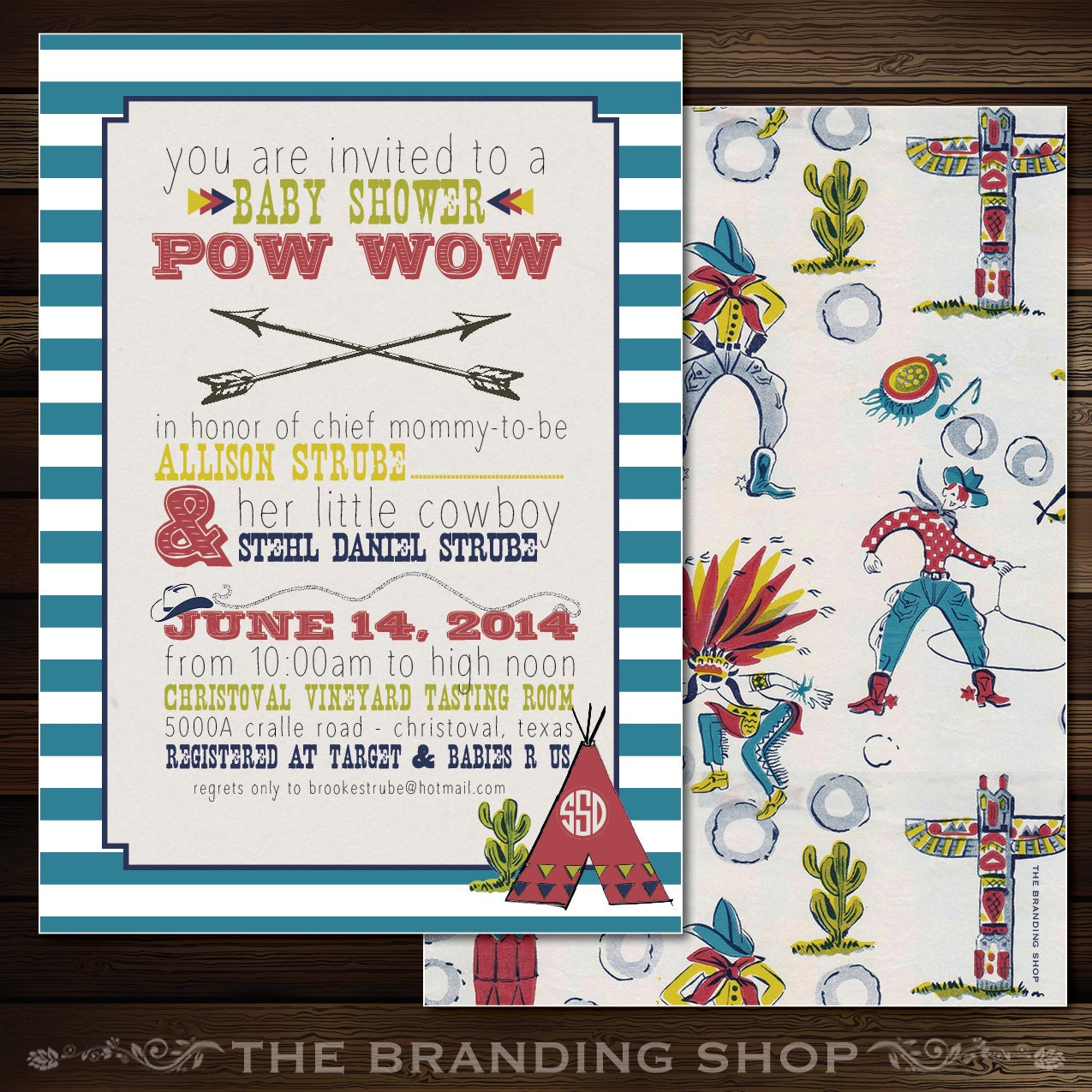 Snap Printable Cowboy and Indian theme custom party by louandboo ...