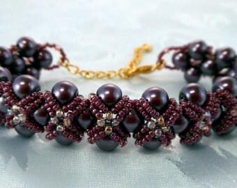 "Elegant ""Lauren"" Captured Pearl Bracelet (001-312)"
