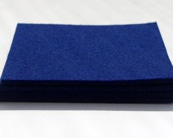Felt Coasters, Set of Midnight Blue Felt Coasters, Four Wool Felt Coasters, Dark Blue Felt