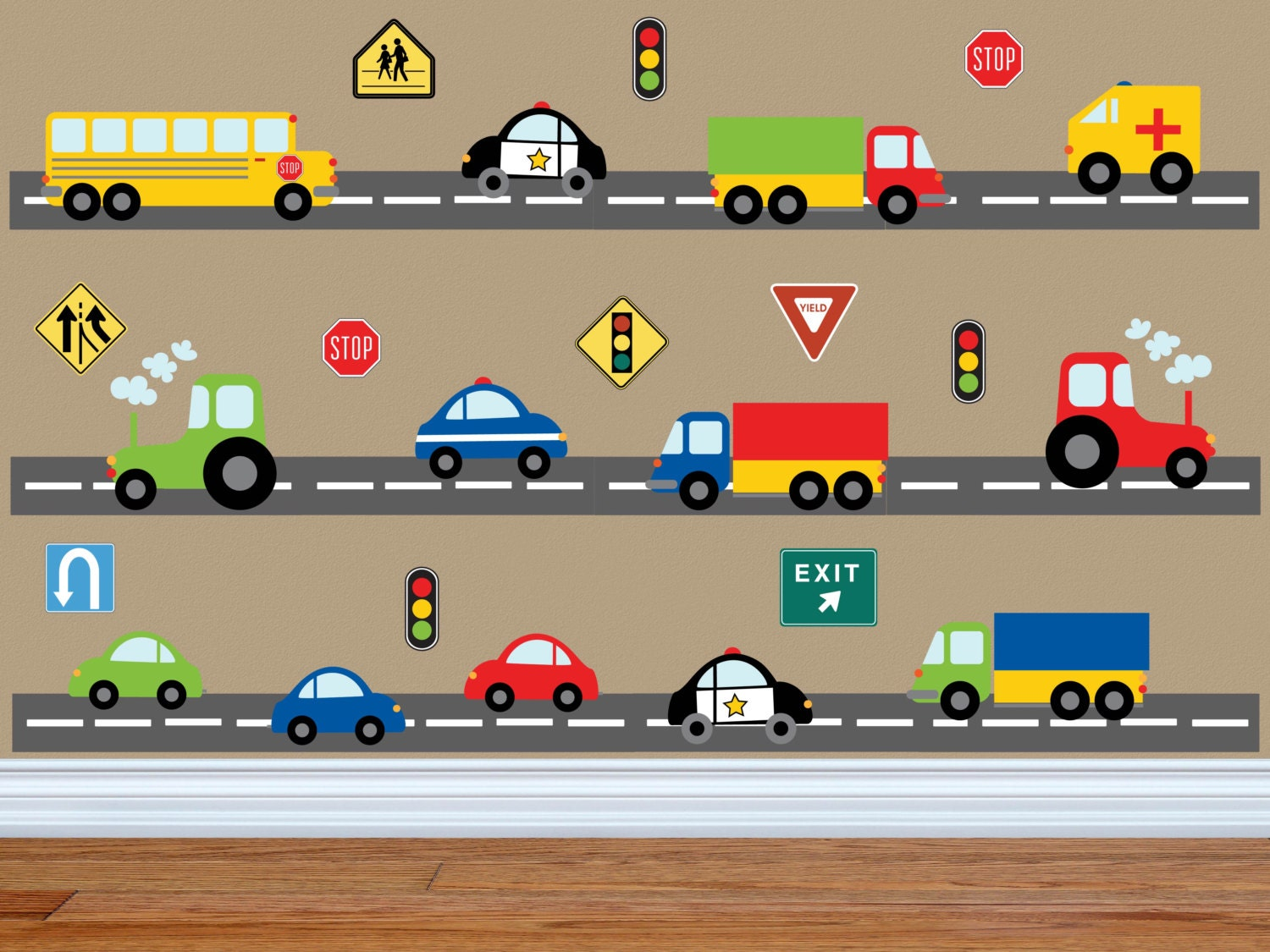 Truck wall decal construction wall decal car wall decal zoom amipublicfo Gallery