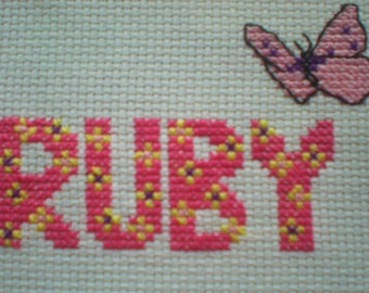 Cross Stitch Girls Name Kit