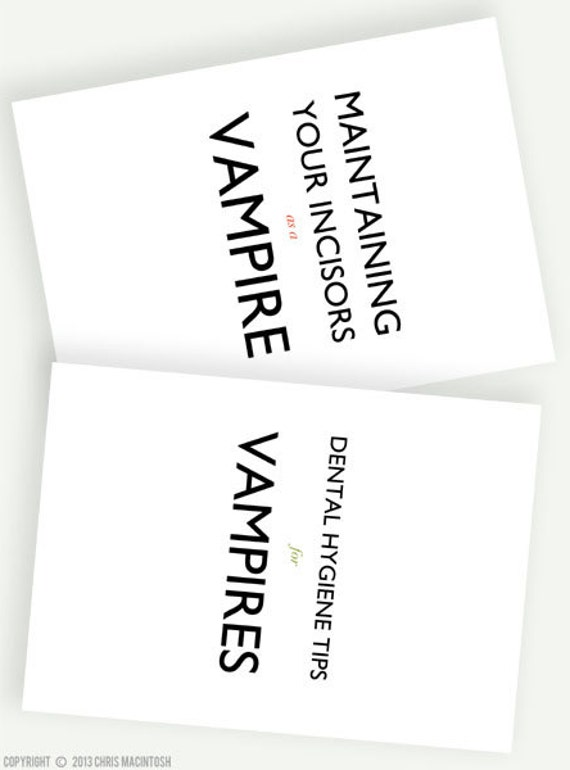 Witty Humorous Funny Vampire Gothic Pocket Notebooks - A6 Softcover Small Journals - Vampires