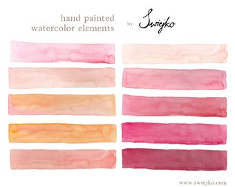 Watercolor Clip Art, Watercolor Stripes, Elements Watercolor