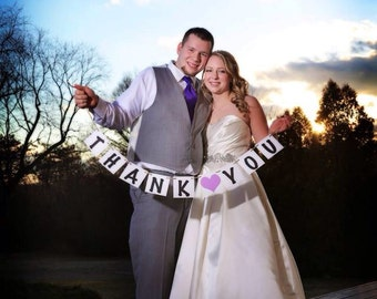Thank you banner - Wedding - Chose your colors