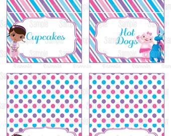 Instant Download Printable Doc McStuffins Food Tent Cards