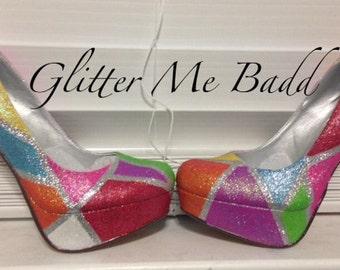 Harlequin Multi Colored heels