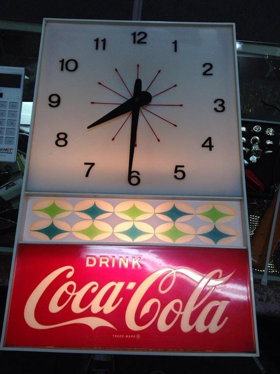 1960s Vintage Coca Cola Lighted Clock