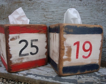 Nautical tissue box on etsy a global handmade and vintage marketplace - Beach themed tissue box cover ...
