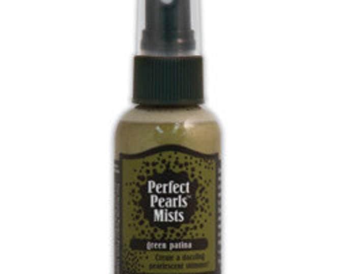 Ranger Perfect Pearls Mist - GREEN PATINA 2 fl. oz. bottle