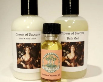 The Crown of Success Kit Lotion, Bath Wash & Oil Luck and Prosperity Success: Hoodoo Voodoo Wicca Pagan