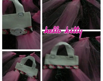 NEW ... Kitty...inspired.. TUTU and purse sets