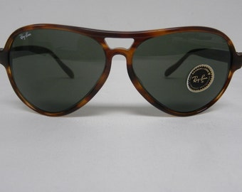ray ban arista gold 75tz  New Vintage B&L Ray Ban Vagabond II Mock Tortoise G-15 62mm L1615 Aviator  Sunglasses usa
