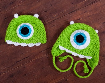 Monster hat - One big eye is looking for you!  Green Monster....