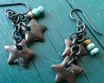 Dark star chained dangles