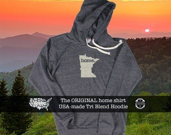 Tri Blend Pull Over Hoodie Minnesota Home Sweatshirt