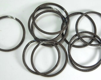"""20 pc 4 1/2"""" Round Welded Steel Rings Crafting Hoops Macrame Circle Holder 1/4"""" thick"""