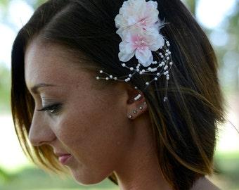 SALE 20% OFF-Romantic Cherry Blossom Wedding Hair Comb, bridal head piece, Bridesmaid, special occasion