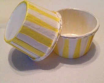 Yellow Stripe Snack Cups