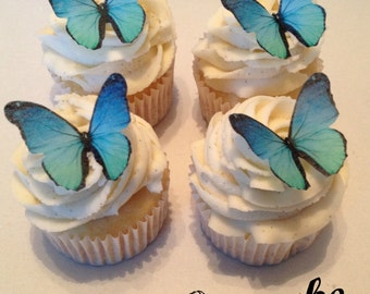 Blue Ombre Edible Butterflies - 12