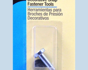 "Dritz SNAP FASTENER TOOL Attaches hammer-on 4-part metal snaps & pearl snaps size 14, 15, 16, 17, 18 (5/16"" - 1/2"") (9mm - 12mm)"