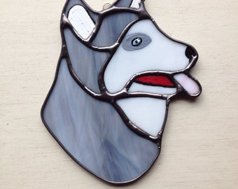 Husky Dog Night Light or Sun Catcher