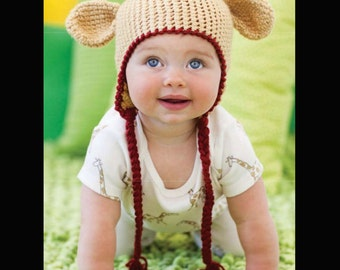 Instant Download PDF crochet pattern Giraffe hat  sizes 0-3 month