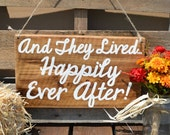 "Rustic Double-Sided Ring Bearer Sign -""Uncle Timmy, Here Comes Our Girl"" & ""And They Lived Happily Ever After"""