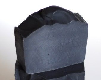 Unscented Charcoal & Aloe Facial Soap - handmade cold process soap
