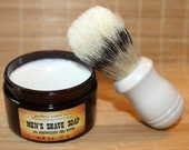 Men's Shave Soap with (optional) Boar Bristle Brush