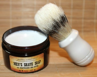 Men's Shave Soap with (optional) Boar Bristle Brush