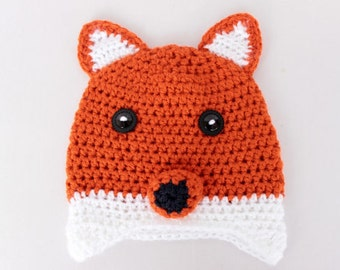 Crochet FOX Hat, Toddler hat ,children hat ,Newborn hat ,toddler crochet hat ,baby hat