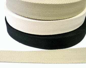 1 m Twill Tape - Webbing 30 mm w. cotton