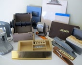 Mid Century Office Supplies Desk Set  Mad Men Industrial Office 1950 1960 Vintage Office