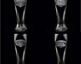 Unique Groomsmen Gifts, Engraved Best Man Pilsner Beer Glass (item # groompils)