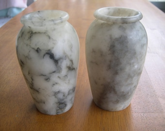 SALE --- Italian Alabaster Vases from Naples, Italy WWII 1945 --- Reduced