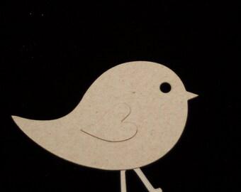 3  Baby Bird Chipboard Die Cuts