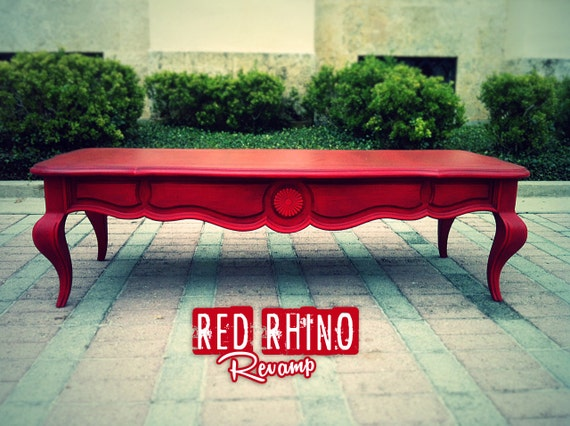 Red Coffee Table Lush Aged Red Coffee Cocktail Table Sold
