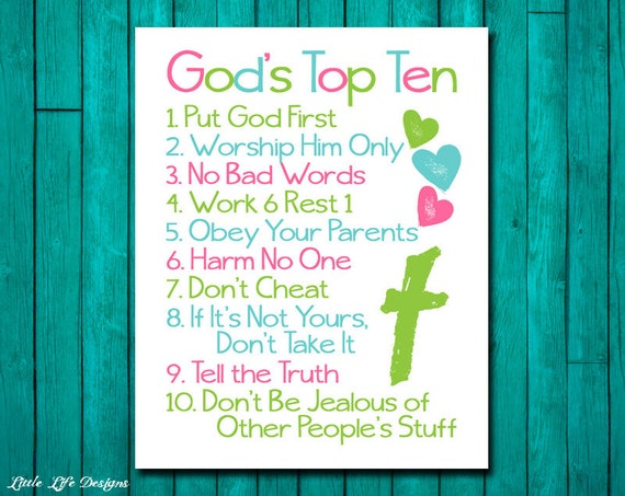 Christian wall art ten commandments bible verse god 39 s for Children s armchairs 10 of the best