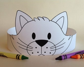 Cat Crown COLOR YOUR OWN - Printable