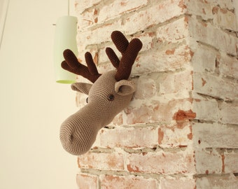 DIY PDF Pattern moose head - crochet pattern