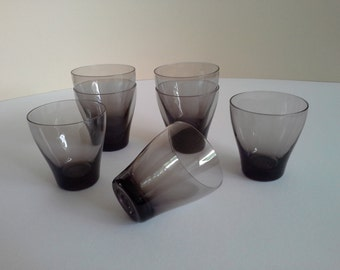 7 Vintage Tumblers, Libby Glass?