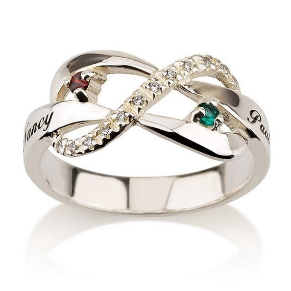 items similar to personalized infinity ring 925 sterling