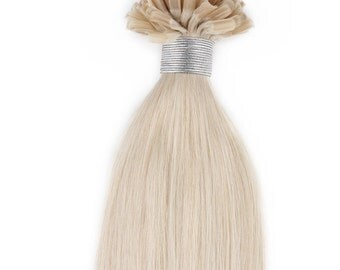 22inches 100grs,100s,Nail (U) Tip Human Hair Extensions 60 White Blonde