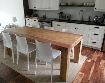 Long Farmhouse  Table, Reclaimed Wood, Rustic Modern, Barn Wood, Salvaged Planks, Reclaimed Wood